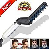 DmHirmg Men Quick Beard Straightener Styler Comb Multifunctional Hair Curling Curler Show Cap Tool Hair Comb