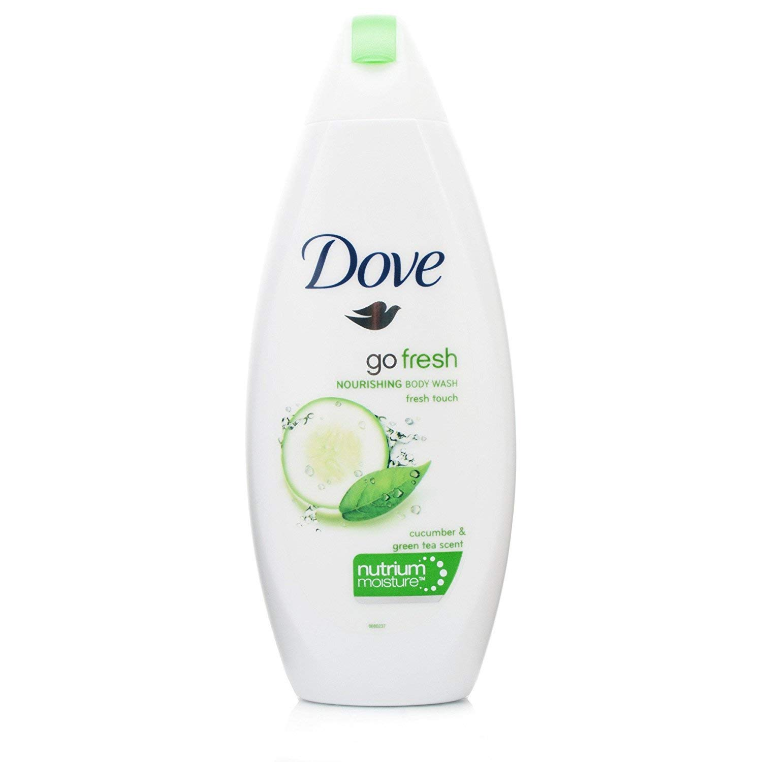Dove Go Fresh Cool Moisture Fresh Touch Body Wash, Cucumber and Green Tea, 16.9 Oz / 500 Ml (Pack of 4) International Version