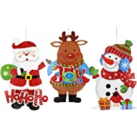 Recortes colgantes de Navidad, paquete de 3 Recortes