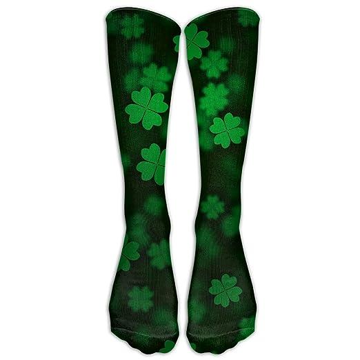 83ee53fdb Image Unavailable. Image not available for. Color  LJB Unisex Irish  Shamrock Knee High Long Socks Athletic ...