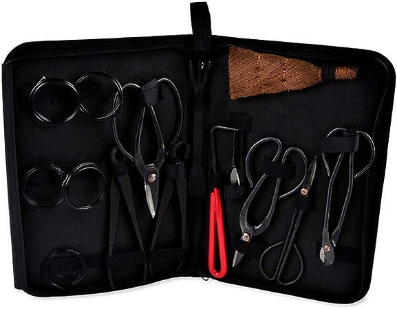 ZHEBEI Garden Bonsai Tool Set Juego de Herramientas de Acero al Carbono Caja de Nylon: Amazon.es: Hogar