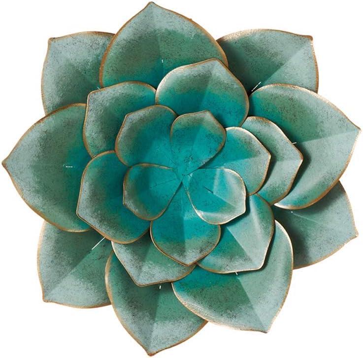 """Midwest-CBK Metal Succulent Flower Wall Sculpture, 13"""""""