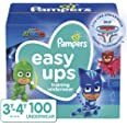 Pampers Potty Training Underwear for Toddlers, Easy Ups Diapers, Training Pants for Boys and Girls, Size 5 (3T-4T), 100 Count
