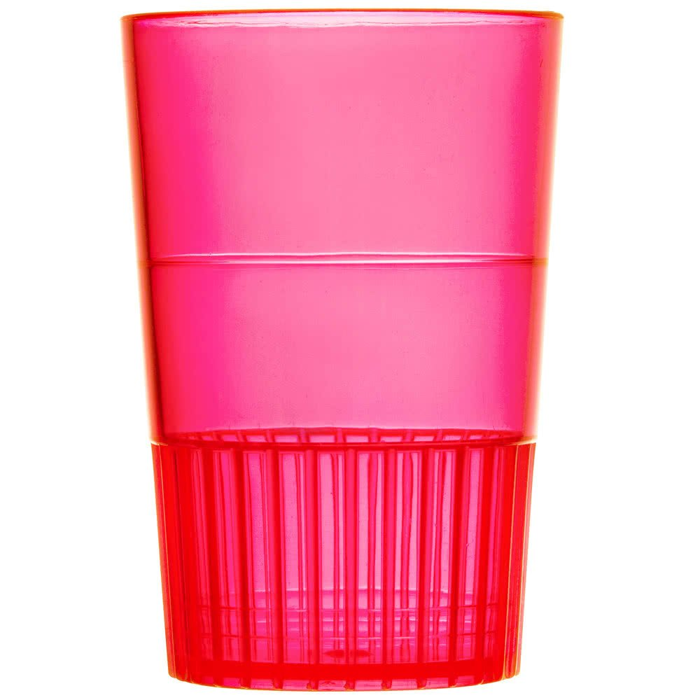 Fineline Quenchers 4115-RD 1.5 oz. Neon Red Hard Plastic Shooter Glass - 500/Case by Fine-line