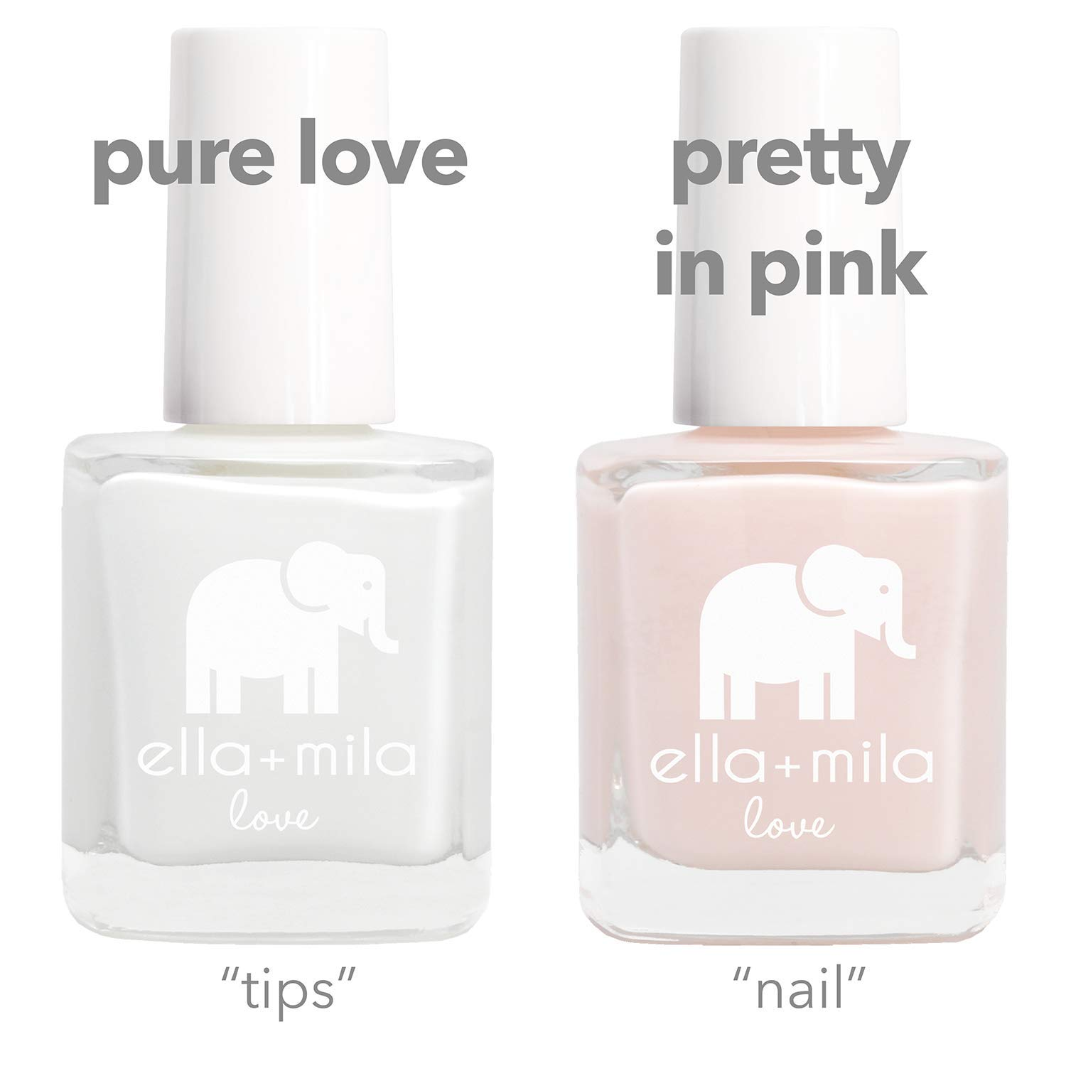 Clear pink nail polish for French manicure