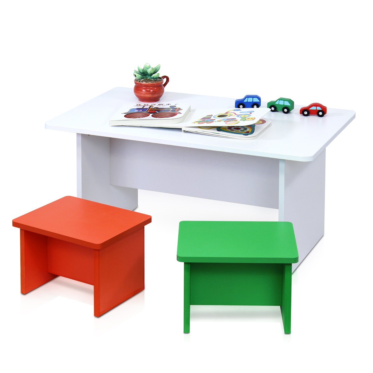 Amazoncom Furinno FNAM Nino Fun Color Kids Table With - Wayfair kids table and chairs