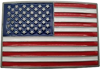 Army American Flag Metal Belt Buckle United States U.S