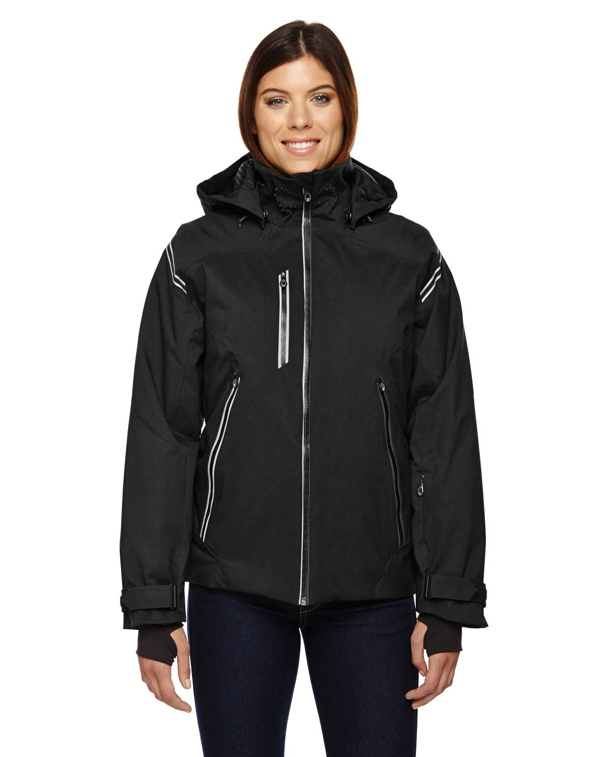 Ash City Ladies Ventilate Insulated Jacket (X-Small, Black)