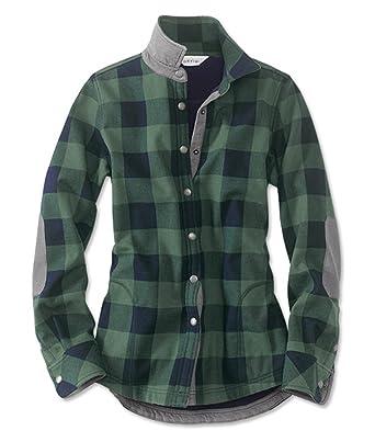 48620417cf Amazon.com  Orvis Women s Tetons Flannel-and-Fleece Jacket malrd ...