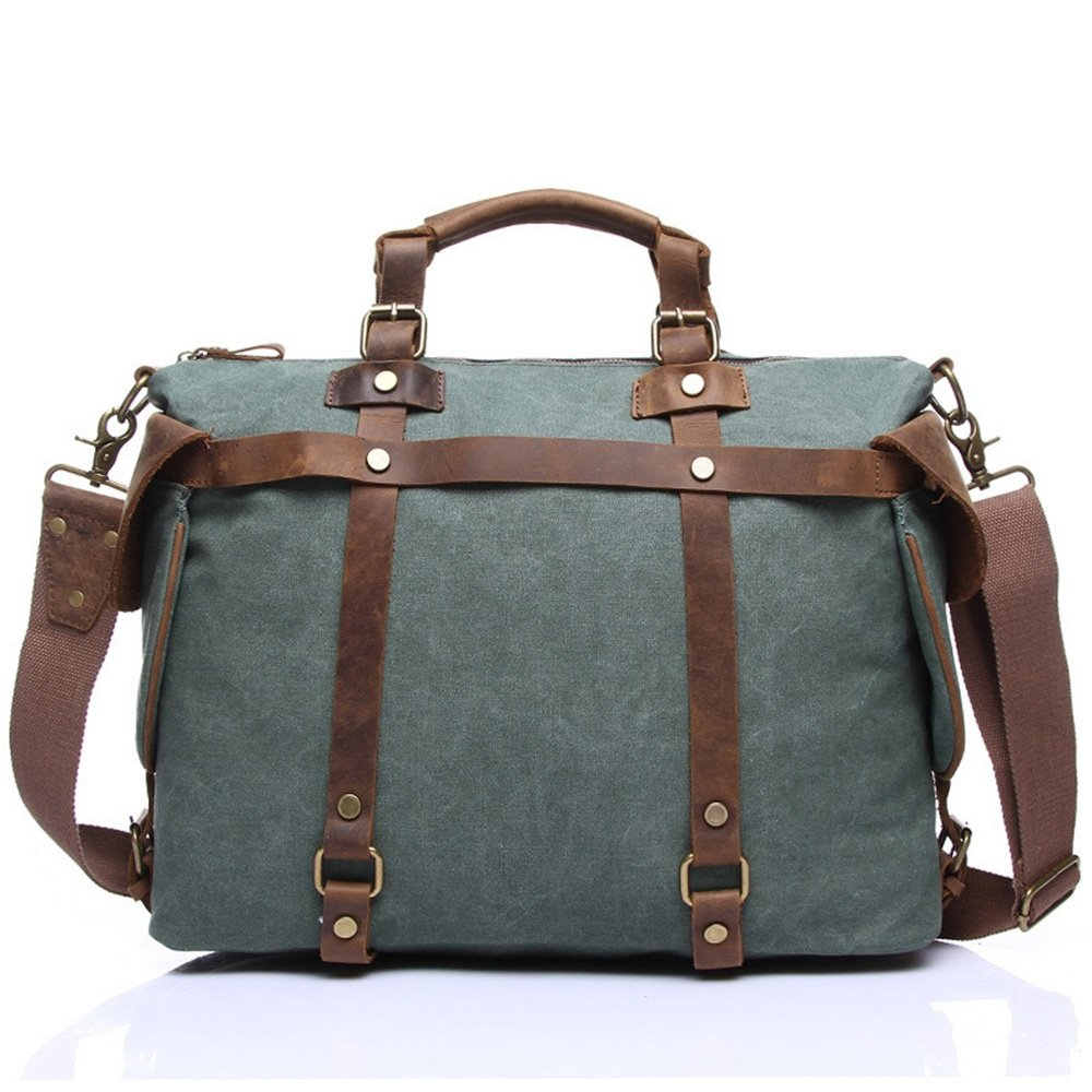 Ybriefbag Unisex Canvas Bag Handbag Retro Shoulder Messenger Large Cloth Leisure Fitness Business Travel Bag Vacation