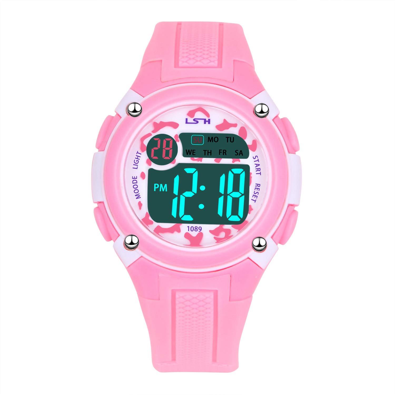 Reloj Deportivos para Niños Niño Niña Resistente al Agua Digital Impermeabl  al Aire Libre LED Reloj 0d267ff96ee3