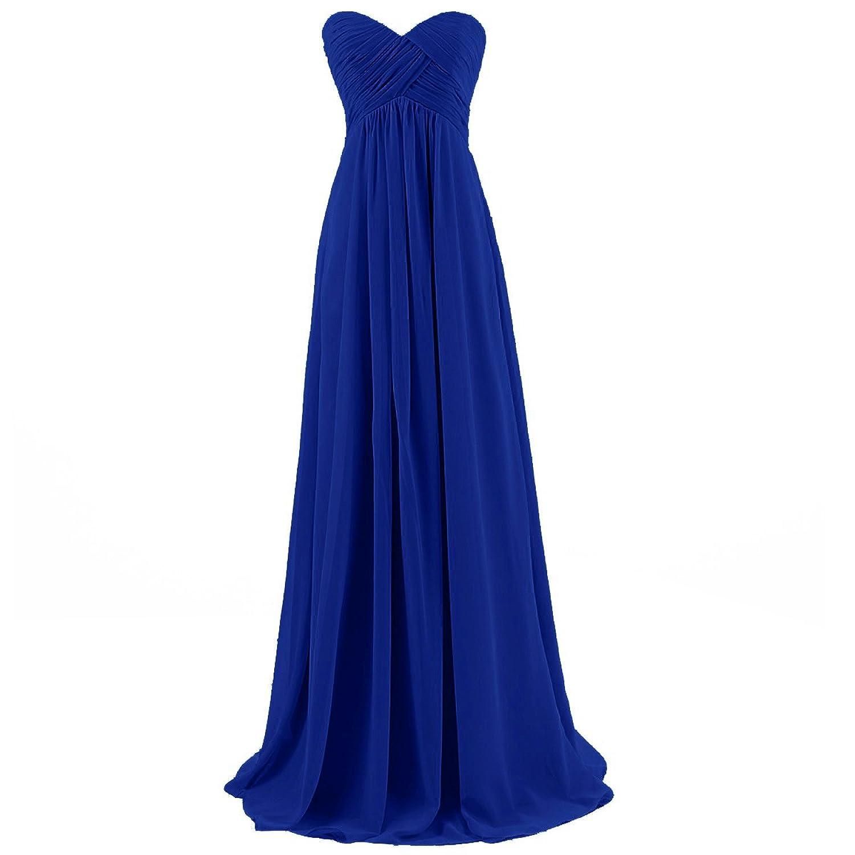 Dresstells Brautjungfernkleid Lang Chiffon Abendkleider mit Schnürung DT100068
