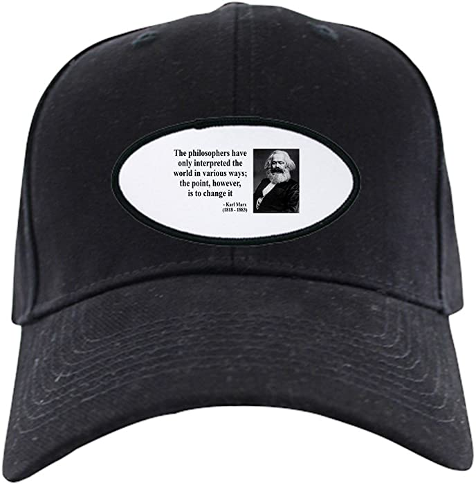 f46bcce26472d Amazon.com  CafePress - Karl Marx Quote 5 - Baseball Hat