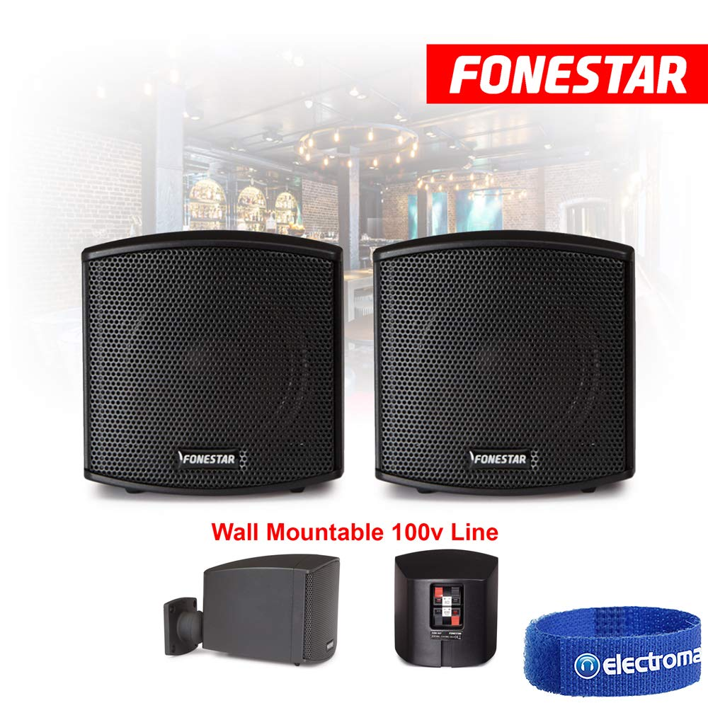 FONESTAR 2.5 Wall Mount Speakers 100V Line PA Install Background Music 8 Ohms CUBE-62T