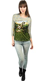 "New Ladies Womens 3//4 Sleeve Yizzam /""Mermaid Octopus Sailing/"" Goble"