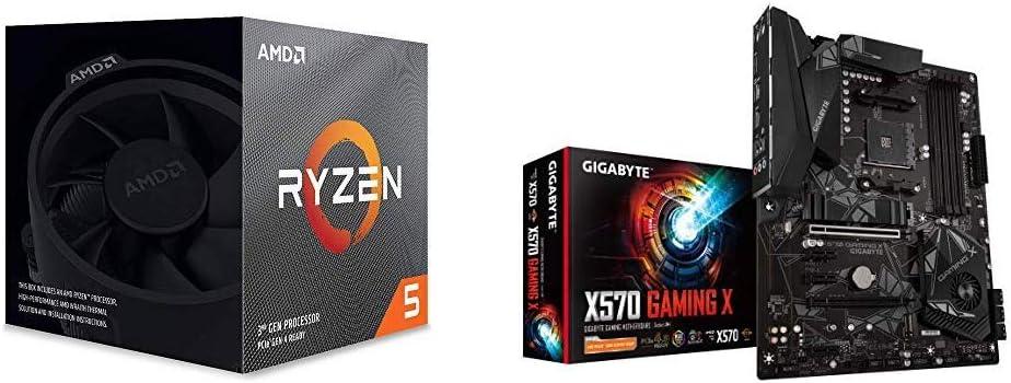 AMD Ryzen 5 3600X 6-Core, 12-Thread Unlocked Desktop Processor with GIGABYTE X570 Gaming X Gaming Motherboard