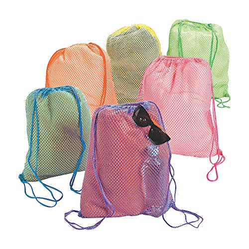 Fun Express - Neon Net Backpacks - Apparel Accessories - Totes - Plain Backpacks - 12 - Tote Express