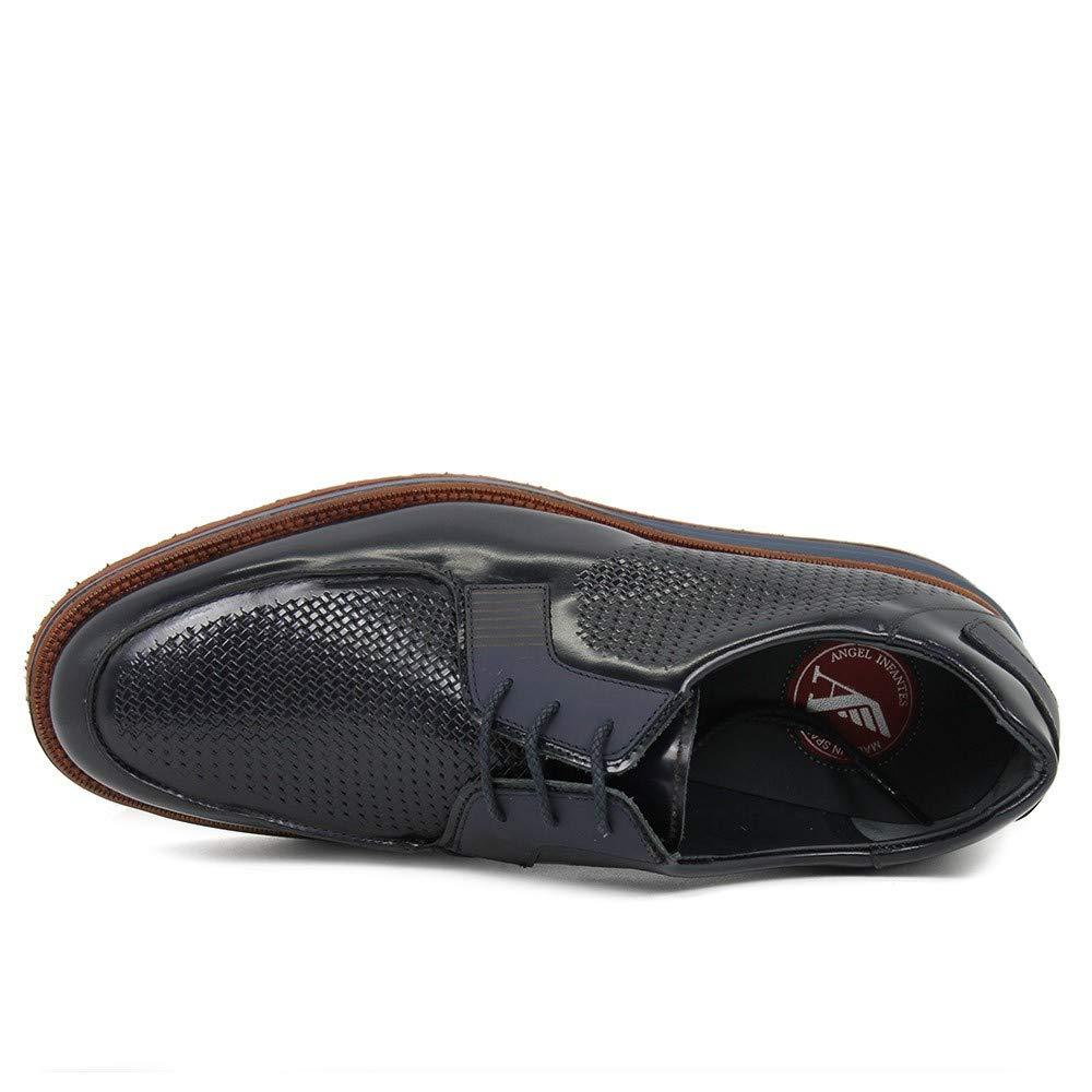 Ángel Infantes - Blucher - Cordones - Piel Florenti - Marino - 41: Amazon.es: Zapatos y complementos