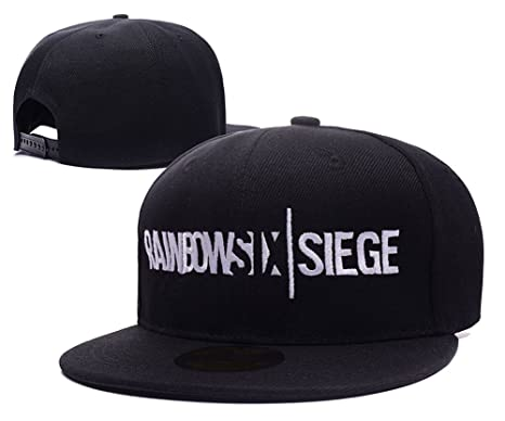 a8a19ce1f5a TAYLORP Tom Clancy s Rainbow Six Siege Logo Adjustable Snapback Embroidery  Hats Caps - Red