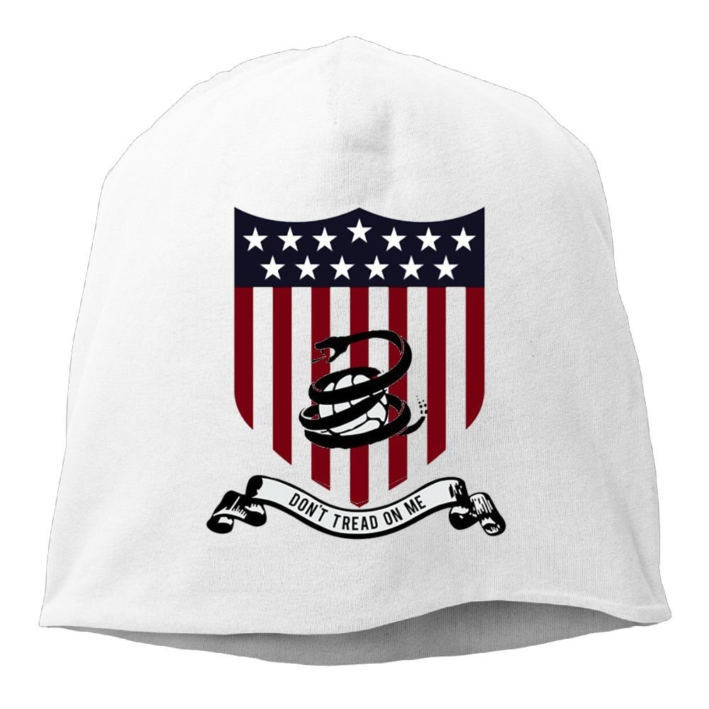 Reteone Fashion Solid Color Dont Tread on Me Snake Fan Pattern Hedging Cap For Unisex White One Size