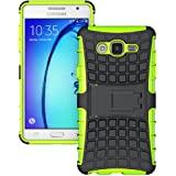 Heartly Flip Kick Stand Spider Hard Dual Rugged Armor Hybrid Bumper Back Case Cover For Samsung Galaxy J2 SM-J200F 2015 - Great Green