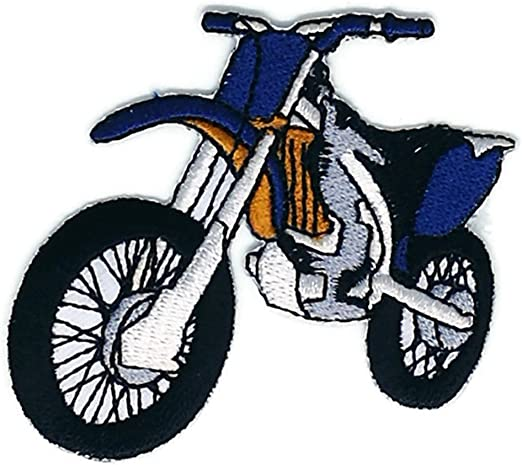 Amazon Com 2 6 X 2 7 Inches Blue Faster Motocross Patch Sew Iron