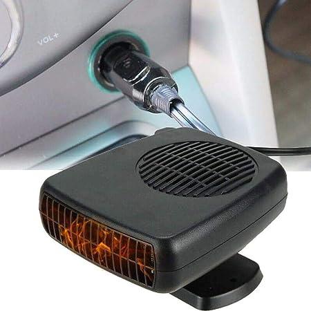 Antibeschlag 200W 12V Plug-In Zigarettenanz/ünder Tragbare Autoheizung 2-in-1-Heizung//K/ühlung Mini-Autoheizung mit ergonomischem Griff Windschutzscheiben-Defogger-Defroster Leaflai Autoheizung