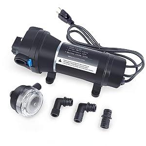 BACOENG AC110V Self Priming Water Pressure Diaphragm Pump 4.5GPM 17L/min 40Psi Caravan/RV/Boat/Marine