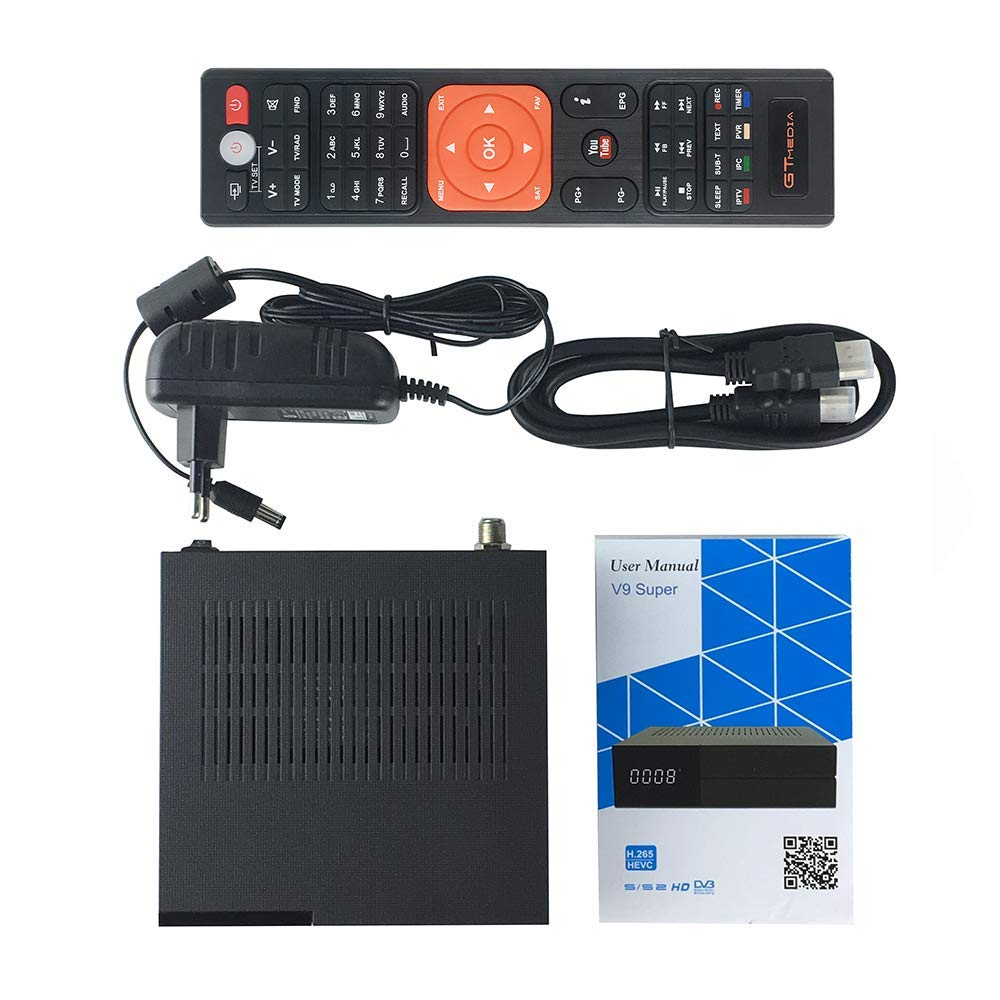 GTMEDIA V9 Full HD DVB-S2 Freesat Satellite Receiver H.265 Built-in WiFi TV Box Support PowerVu, DRE & Biss Key, DLNA, SAT to IP,Unicable,Satellite EPG by Vmade we made, well-made (Image #6)