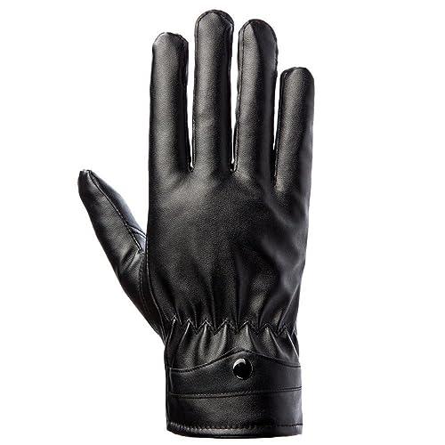 Los guantes de cuero de la PU de los hombres más guantes de dedo de cachemira deportes al aire libre de otoño e invierno guantes calientes