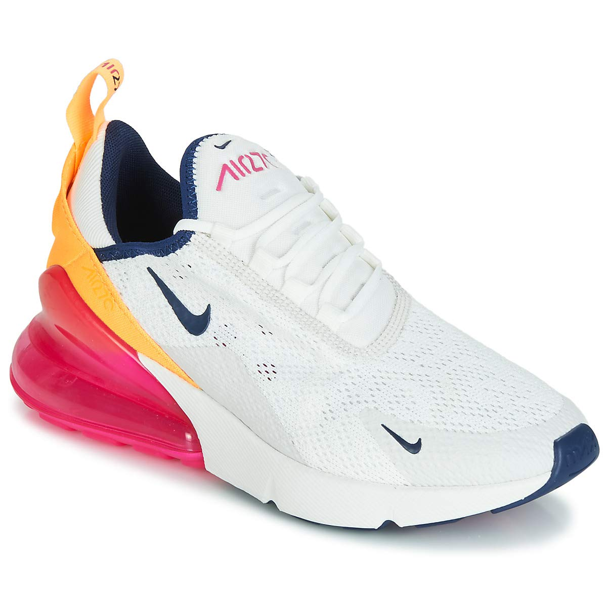 best sneakers 5d953 ffd59 Nike Air Max 270 Women's Shoes Summit White/Midnight Navy/Laser Fuchsia  ah6789-106 (5 B(M) US)