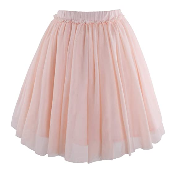 04745ec3e6 Flofallzique Tulle Girls Skirts Tutu for 1-12 Years Old Dancing Skater  Toddler Clothes