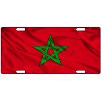 MNUT bandera de Marruecos placa de matrícula personalizada
