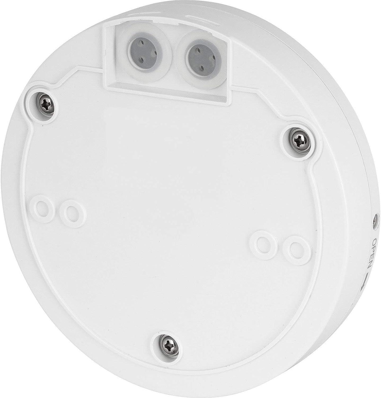 IP65 Detector de movimiento por infrarrojos 360/° 230 V con sensor crepuscular para exteriores y entornos h/úmedos apto para LED a partir de 1 W-2000 W