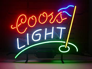 New coors light golf real glass neon light sign home beer bar pub new coors light golf real glass neon light sign home beer bar pub recreation room game aloadofball Images