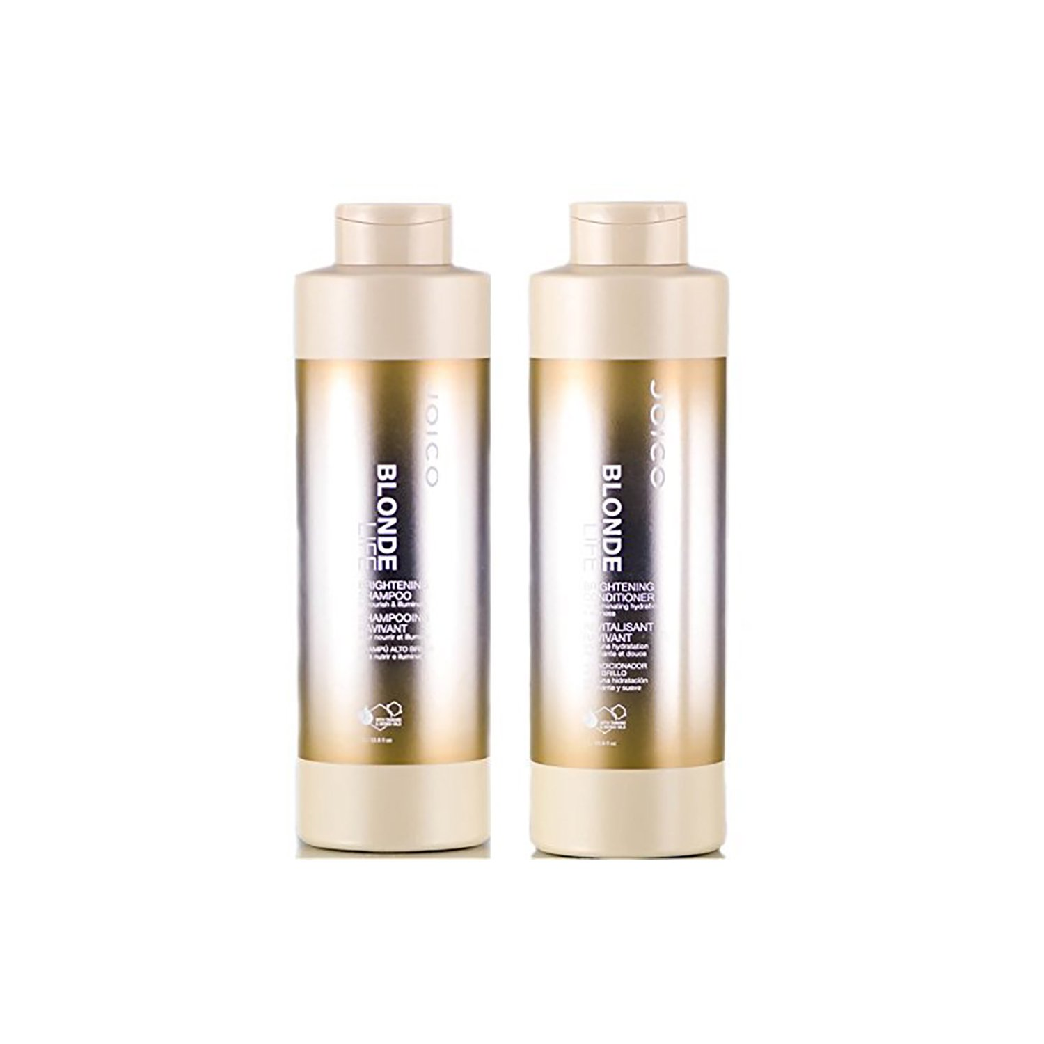 Joico Blonde Life Brightening Shampoo & Conditioner 33 oz. LITER SET Blonde Life by Joico