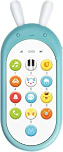 Jonzoo Kids Toy Phone, Early Educational Learning Electronic Smart Phone with Music,Lights for Baby Toddler Gift 6 Months + (Blue)