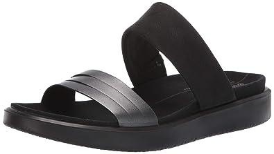 462afa5c74 ECCO Women's Women's Flowt Slide Sandal Dark Shadow Metallic/Black, 35 M EU  (