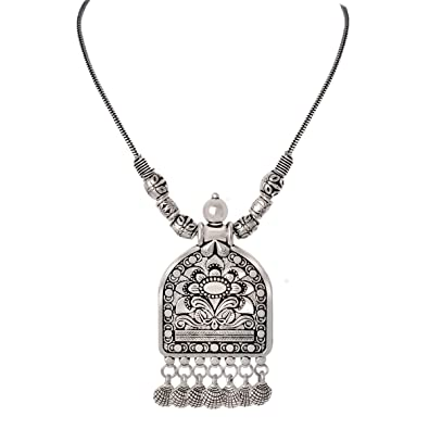 dfc7f80242c Buy Spargz Ethnic Silver Oxidised Plated Tribal Fashion Jewellery ...