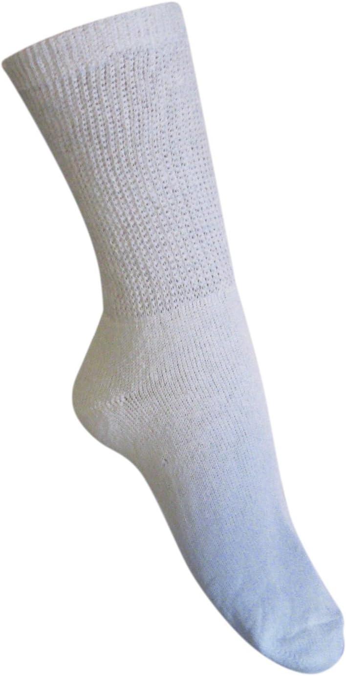 Diabetic Light Gray Crew Socks 3 Pair Men/'s Size 13-15 Made in USA