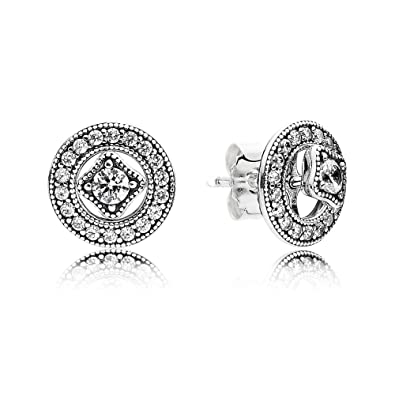 a5fb69cb6 Image Unavailable. Image not available for. Color: Pandora Women's Vintage  Allure Stud Earrings ...