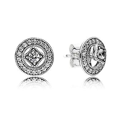 54ea92d84 Amazon.com: Pandora Women's Vintage Allure Stud Earrings - 290721CZ ...