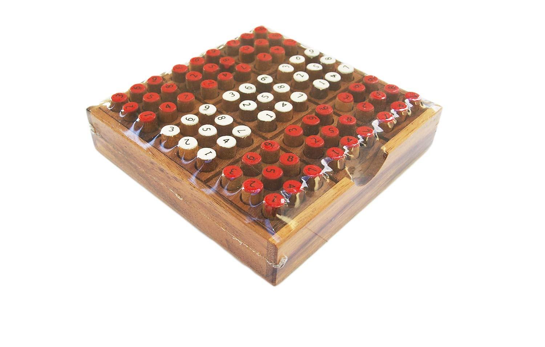 CMStar Portable Wooden Sudoku Game Set