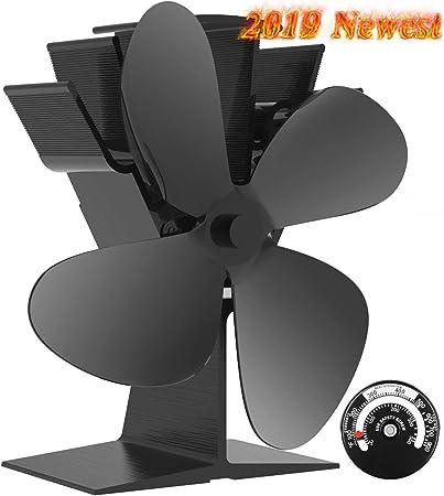 Actualizado Ventilador de 4 aspas para estufa de leña o chimenea ...