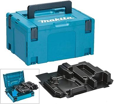 Makita - Caja de herramientas y incrustaciones para sierra circular Makpaca (18 V, para DHS680): Amazon.es: Bricolaje y herramientas