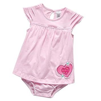 Amazon.es: Traje de Ropa para Bebé niños recién Nacidos Batas de Verano Mameluco de Manga Corta,Rojo [80CM]: Juguetes y juegos