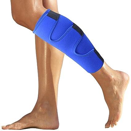 3952c67b09 Calf Brace - Shin Splint Support for Calf Pain Relief, Strain, Sprain, Shin  Splints, Tennis Leg, Calf Injury. Best Compression ...
