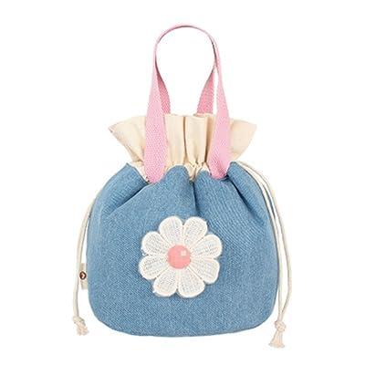 ZOONAI Cosmetic Travel Toiletry Storage Bag Drawstring Makeup Handbag Carry Pouch
