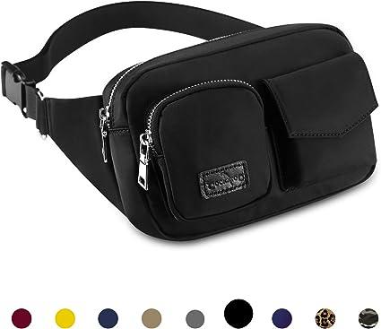 Unisex Waist Purse Earth View Fanny Pocket Adjustable Running Sport Waist Bags Black