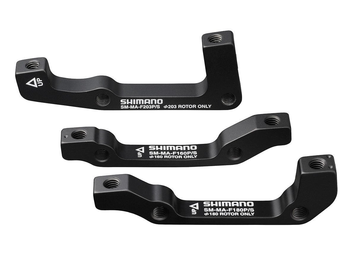 SHIMANO MA-F Disc Brake Mounting Bracket (Black, 203-mm Post/Post Front) by SHIMANO